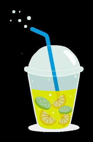 Limonada con gas